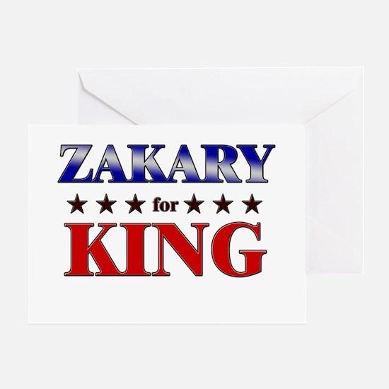 ZAKARY for king Greeting Card