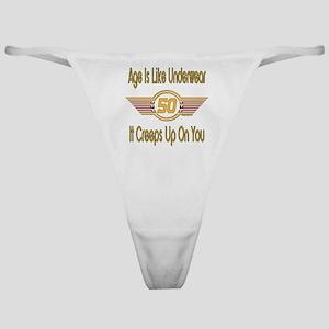 Funny 50th Birthday Classic Thong