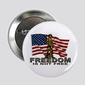 """FREEDOM NOT FREE 2.25"""" Button"""
