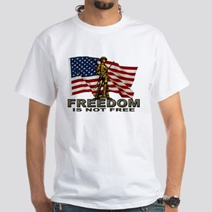 FREEDOM NOT FREE White T-Shirt