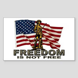 FREEDOM NOT FREE Rectangle Sticker