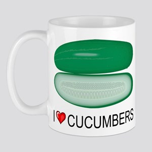 I Love Cucumber Mug