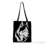 Siberian Husky Malamute Sled Dog Polyester Tote Ba