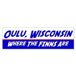 Oulu Wisconsin--Where the Finns Are Sticker