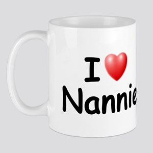 I Love Nannie (Black) Mug