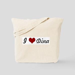 I love Dina Tote Bag
