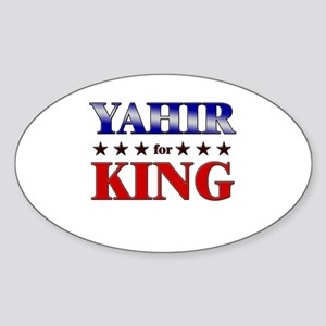 YAHIR for king Oval Sticker