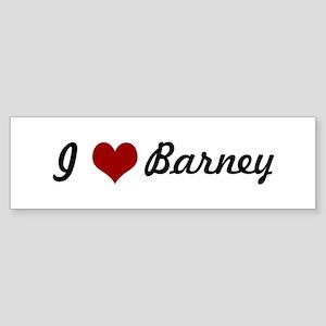 I love Barney Bumper Sticker
