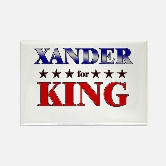 XANDER for king Rectangle Magnet
