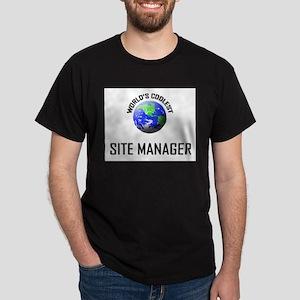 World's Coolest SITE MANAGER Dark T-Shirt