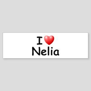 I Love Nelia (Black) Bumper Sticker