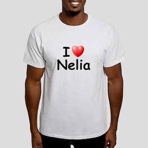 I Love Nelia (Black) Light T-Shirt