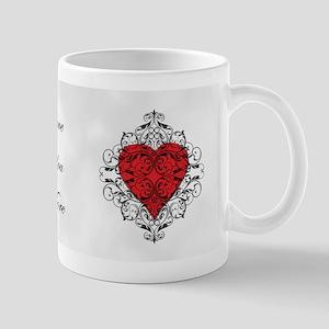 Red Heart-Black Lace-mg Mugs