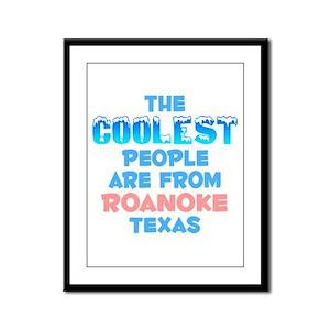 Coolest: Roanoke, TX Framed Panel Print