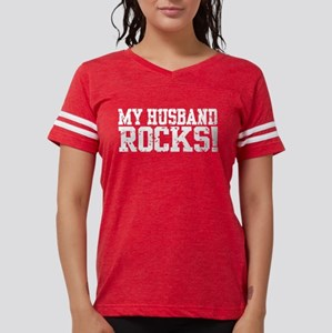 My Husband Rocks Women's Dark T-Shirt