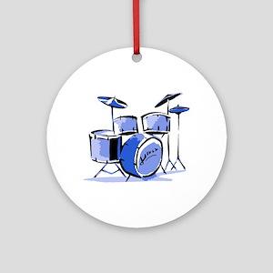 Drum Set Round Keepsake (Blue)
