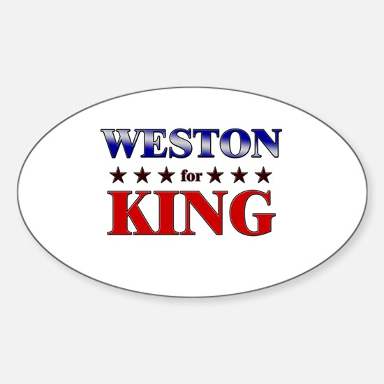 WESTON for king Oval Decal
