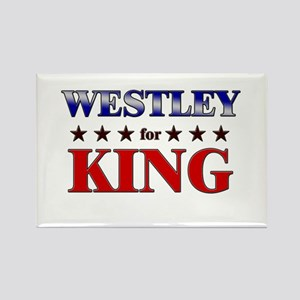 WESTLEY for king Rectangle Magnet