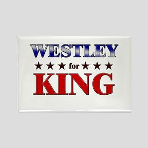 WESTLEY for king Rectangle Magnet