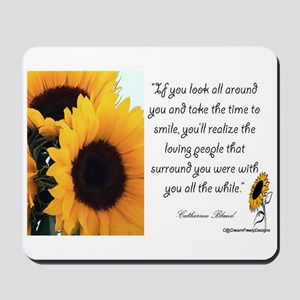 Sunflower Quote Mousepad
