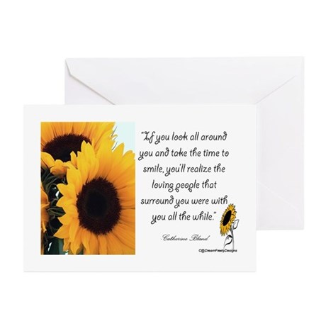 Sunflower Quote Greeting Cards (Pk of 10)