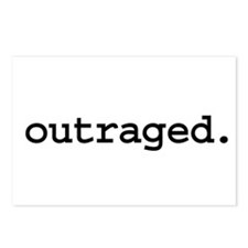 outraged. Postcards (Package of 8)