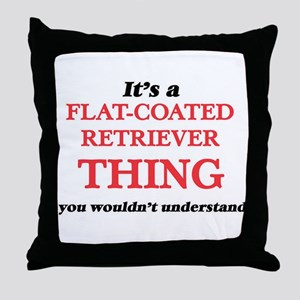 It's a Flat-Coated Retriever thin Throw Pillow