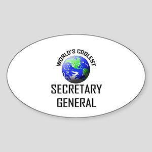 World's Coolest SECRETARY GENERAL Oval Sticker