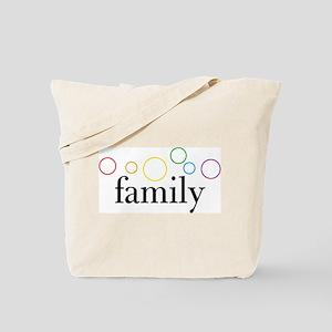 Family Pride (Rainbow Bubbles) Tote Bag