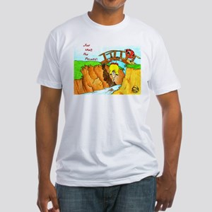 Golf-Hanging From Bridge Fitted T-Shirt