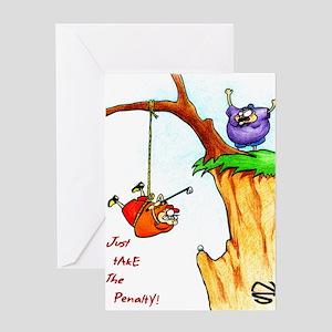 Christmas golf greeting cards cafepress cliff golf greeting card m4hsunfo