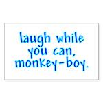 Monkey Boy Rectangle Sticker