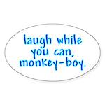 Monkey Boy Oval Sticker