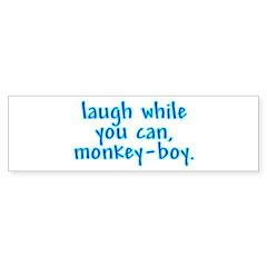 Monkey Boy Bumper Bumper Sticker