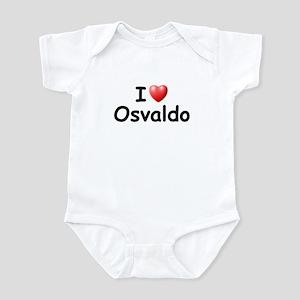 I Love Osvaldo (Black) Infant Bodysuit