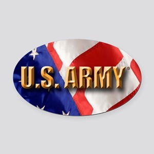 Army Oval Car Magnet