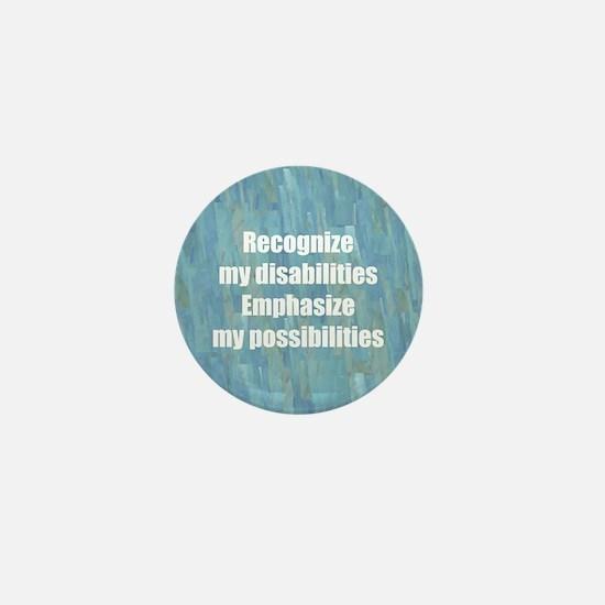 Disability Awareness Mini Button