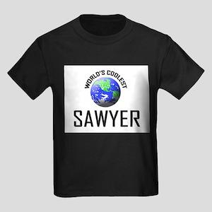 World's Coolest SAWYER Kids Dark T-Shirt