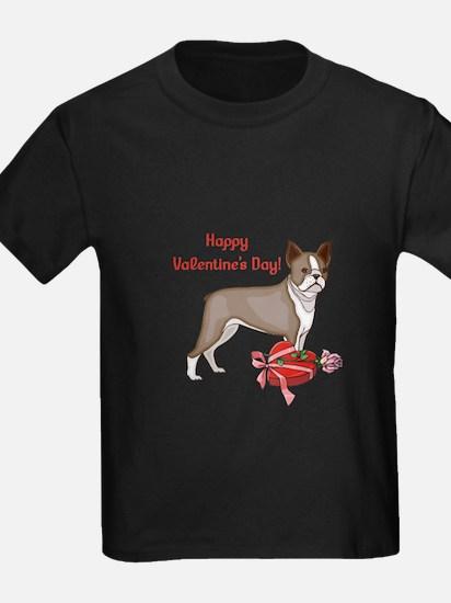 Boston Terrier Valentine's Day T
