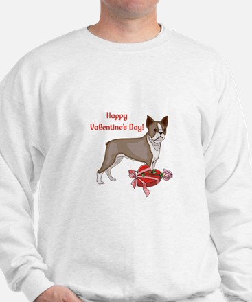 Boston Terrier Valentine's Day Sweater