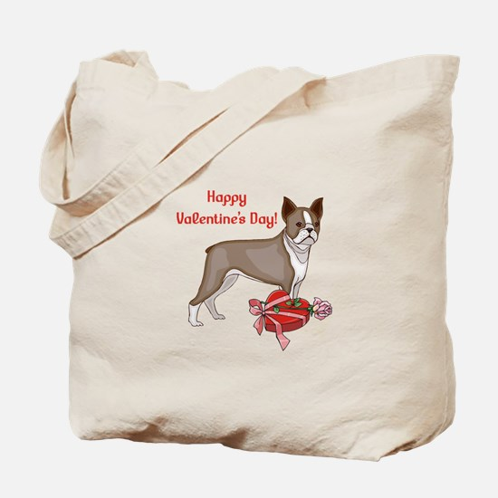 Boston Terrier Valentine's Day Tote Bag