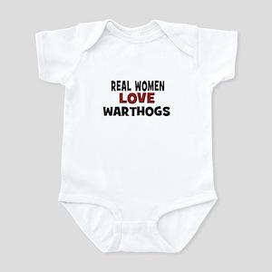 Real Women Love Warthogs Infant Bodysuit