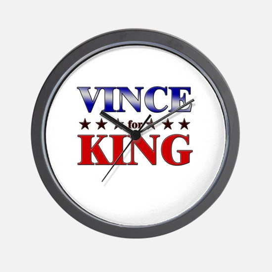 VINCE for king Wall Clock