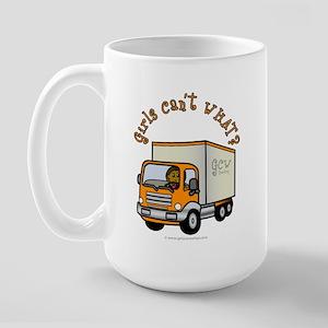 Dark Truck Driver Large Mug