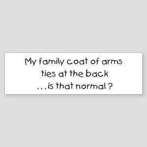 Genealogy Coat of Arms (black) Bumper Sticker