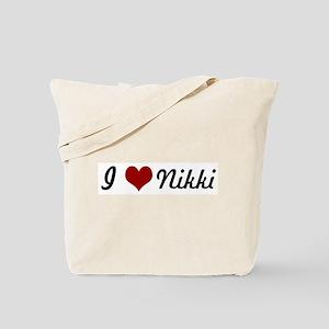 I love Nikki Tote Bag