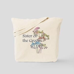 Fireworks Sister of the Groom Tote Bag