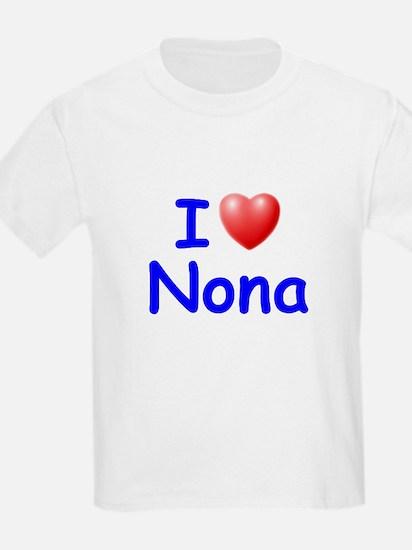 I Love Nona (Blue) T-Shirt