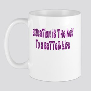 Education Is The Key Mug