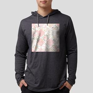 Patchwork Quilt Mens Hooded Shirt